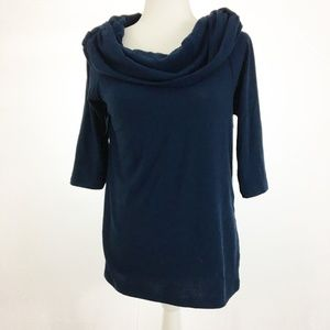 Soft Surroundings 3/4 Sleeve Cowl Neck Top Size M
